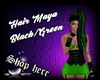 Hair Maya Black/Green