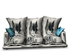 Silver-Wolf Cuddle Couch