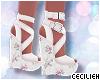 ! wedges w/ floral heel