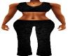 Black Peplum Flare Pants