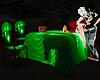 Mesa con Poses Hot Green