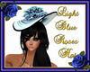 Light Blue Roses Hat