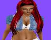 RED& BLACK  HAIR