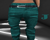 *J* Tomboy Teal Jeans
