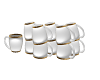 *mm* Coffee cups pile
