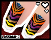 !L Sunset Zebra Nails