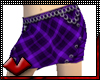 (V) Tartan Skirt Purple