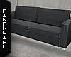 ϟ Black leather Couch