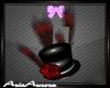 Burlesque Hat Red