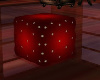 ~TQ~Red Cube Pouf Kiss