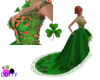 green kiss me irish gown