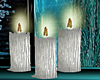 3 Silver Candles