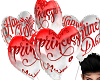 valentines balloons kiss