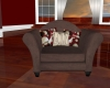Brown love chair w/poses