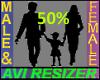 Avi Scaler 50%