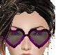 Purple heart glasses blk