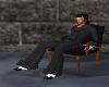 Black an wood chair