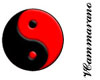 Black and Red Ying Yang