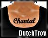 Chantal chest tattoo