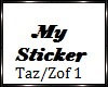 Tazz and Zofia Sticker 1