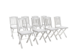 8pc White Folding Chairs