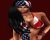 American Bandana Woman