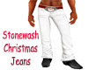 Christmas Jeans Red Belt