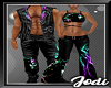 Neon Wolf Flares Couple