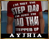"""a"""" Dad SteppedUp T Red"""
