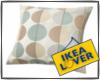ikea blue/beige pillow