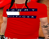 100-Tommy H Red Tee-100