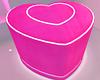 Neon Heart Puff Chair