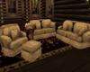 Vintage Sofa Set Beige