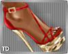Red Gold Sandal Heel