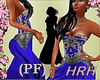 HRH PF Beaded Blue Silk