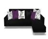 Black w/ Purple Sofa