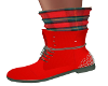Zaida Red Boots/Socks