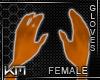+KM+ Gloves Orange