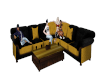 -KS- Black & Gold Couch