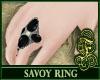 Savoy Ring Black