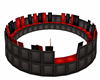 Circle RedBlack Couch