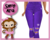 Kids Bright Purple Capri