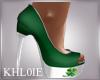 St patts day heels green