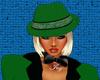HuntressGreen Felt Hat