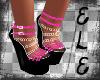 [Ele]WEDGES Pink&Black