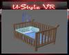 Baby boy wooden cot ++