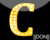 C YELLOW Letter Lamp