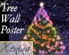 X Christmas Tree Poster