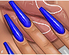 f. plain blue nails