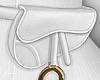 f. white belt bag gold